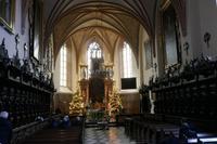 Innenraum der Klosterkirche Kartuzy