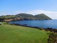 Blick vom Hotel in Angra do Heroismo auf der Insel Terceira