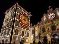 Ponta Delgada Volkfest Beleuchtung - Sao Miguel Insel (1)