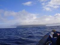 Blick auf Insel Corvo
