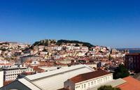 Lissabon und Castelo de Sao Jorge