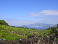 Wanderung auf Pico mit Blick auf Faial