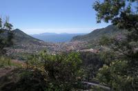 Blick zur Bucht von Machico (Levada-Wanderung)
