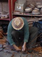 in der Korbflechterei von Camacha