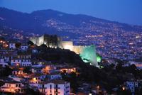Abendstimmung Blick aus Hotel auf Burg von Funchal