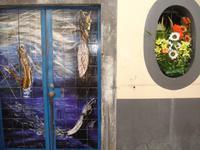Funchal - Haustür in der Rua da Santa Maria
