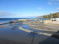 der Strand muss ständig ausgebaggert werden