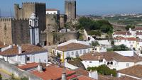 Blick auf die Burg  von Obidos