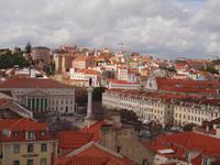 Lissabon - Blick auf Rossio