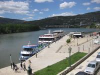 Das Kai für die Flusskreuzfahrtschiffe in Peso da Regua