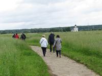 auf dem Weg zur Pokrow-Kirche am Nerl