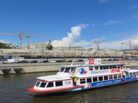 Moskwa Flussschifffahrt: Baustelle am ehemaligen Hotel Rossija