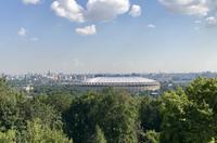 Moskau: Blick von den Sperlingsbergen auf das Stadion im Luschniki-Park