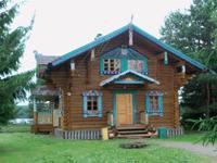 Typisch russisches Holzhaus