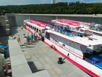 Stadtrundfahrt auf dem Schiff in Moskau