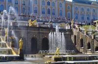 die Große Kaskade vor dem Großen Palast in Peterhof