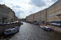 St. Petersburg - Ausflugsboote auf der Moika