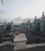 Weißrussischer Bahnhof auf dem Weg zum Hotel