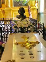 2. Tag Stadtrundfahrt - In der Peter-Paul-Kathedrale, Grabstelle Zar Peter I.