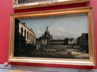Eremitage Gemälde zeigt Neumarkt Dresden