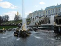 In Peterhof - große Kaskade
