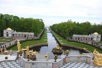 Blick in Richtung Finnischer Meerbusen vom Palast aus