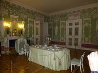 Das grüne Speisezimmer.