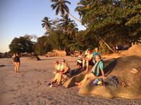 Sonnenuntergang am Strand von Mahe