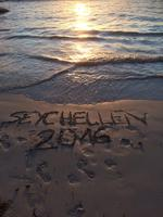 Seychellen 2016 - Fußspuren im Sand