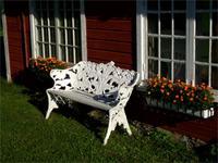 Idylle vor unserem Hotel auf Gotland