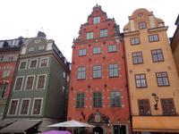 Bürgerhäuser auf dem Stockholmer Markt