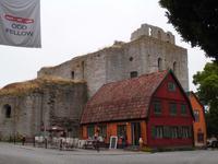 Blick auf St. Lars in Visby