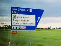 1304 Linköping, die Hauptstadt der schwedischen Provinz Östergötland. Rechts im Bild - Einen IKEA gibt's natürlich auch