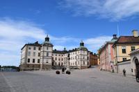 021 Stockholm, Riddarholmen, altes Schloss und Adelspaläste
