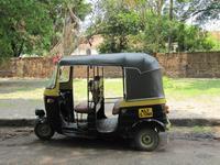 Typisches Fortbewegungsmittel in Süd-Indien: Tuk-tuk