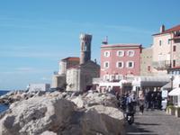 Piran, Klement-Kirche und Leuchtturm