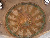 Taufe Jesu - Deckenmosaik arianische Taufkapelle in Ravenna