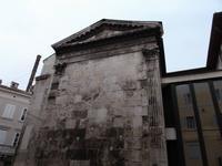 Reste eines römischen Tempels in Pula