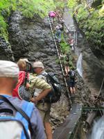 Leiteraufstieg in der Schlucht Sucha Bela im Slowakischen Paradies