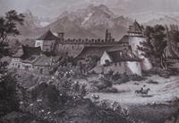 Kezmarok - historische Abbildung des Schlosses