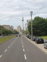 Blick auf den Fernsehturm am Alexanderplatz
