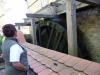 Das Wasserrad der Zschoner Mühle