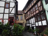 Schöner Hinterhof in Quedlinburg