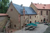 Burghof der Burg Kriebstein