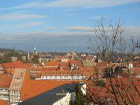 Herrlicher Ausblick auf Quedlinburg vom Schlossberg