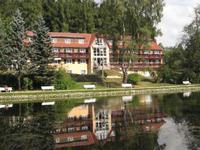 Kurpark Bad Brambach Blick zum Parkhotel