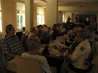 beim Mittagessen im Ramada Hotel Bad Brambach