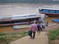 Auf zur Bootsfahrt auf dem Mekong