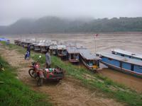 Boote auf dem Mekong