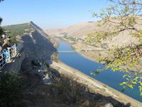 Euphrat hinter dem Atatürk-Staudamm